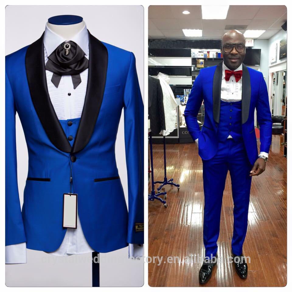 b9ab50627d6cc5 Don Minteiro Men's Two Button Notch Lapel Slim Fit 3-Piece Suit Blazer  Jacket Tux